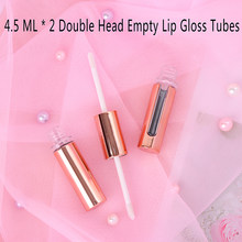 1Pc Rose Goud Lipgloss Buizen Diy Lege Cosmetische Container Hervulbare Flessen Vloeibare Lipstick Opslag Fles(China)