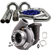 "Turbo gt35 gt3582 turbocompressor + 3 ""76mm intercooler tubo kit a/r. 70 para todos os 4/6 cilindros 3.0l 6.0l motores turbina