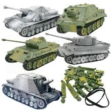Kits de construcción de modelo de tanque 3D, rompecabezas, ensamblaje militar, decoración de juguetes educativos, colección de Material de alta densidad, asalto de tigre