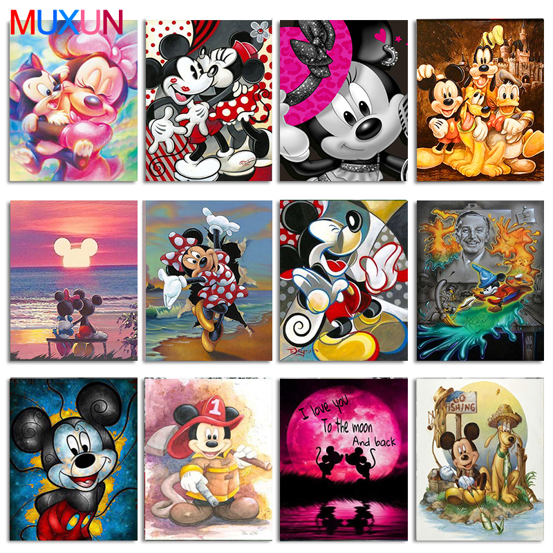 Full Round/Square Cartoon Mouse 5D Diy Diamond Painting Embroidery Pattern 3D Cross Stitch Kits Wedding Room Decor Gift Rp565