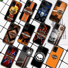 Harley-Davidson Motorcycle Phone Case For Samsung Galaxy S Note 6 7 8 9 10 E 20 UITRA FE 21 Plus Edge black Bumper Painting