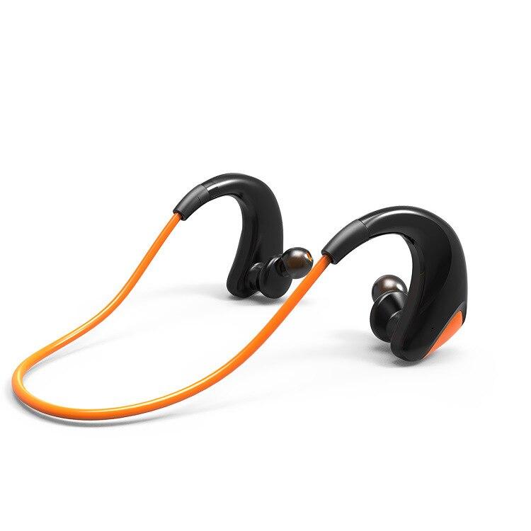 Yulass Earbuds Wireless Orange Waterproof Small Ear Hook Men Women Sports Bluetooth Earphone for Running