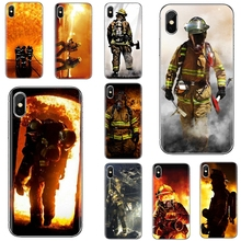 Silicone Cover Bag For iPhone iPod Touch 11 12 Pro 4 4S 5 5S SE 5C 6 6S 7 8 X XR XS Plus Max 2020 Firefighter Heroes Fireman