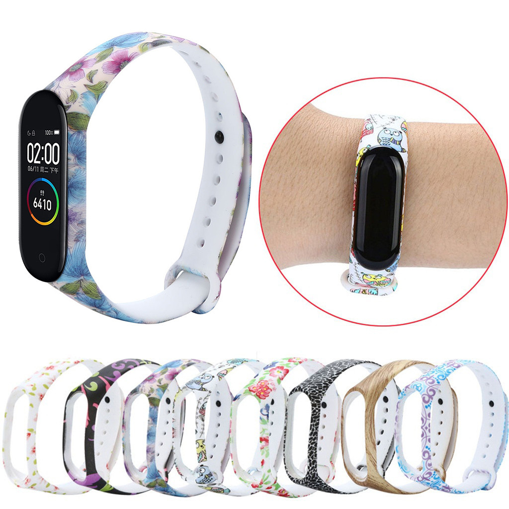 Replacement Silica Gel Wristband Band Strap For Xiaomi Mi Band 4  Wrist Loop Case Kit Bracelet  Smart Watch Accessory