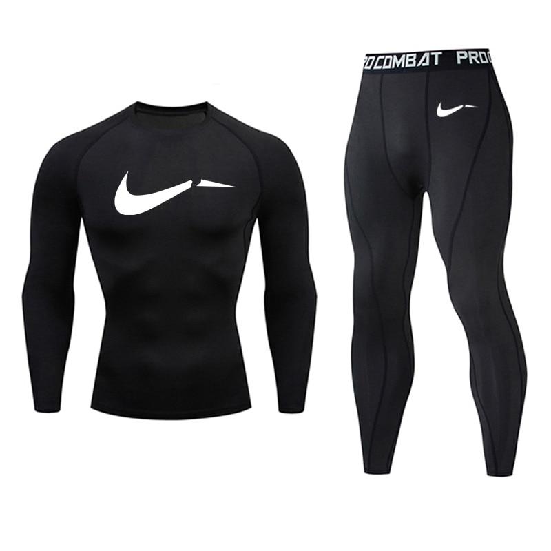 Men's Full Suit Tracksuit Compressed Sports Suit  Fitness Shirt Leggings Autumn Winter Warm Jogging Suit Thermo Underwear Xxxxl