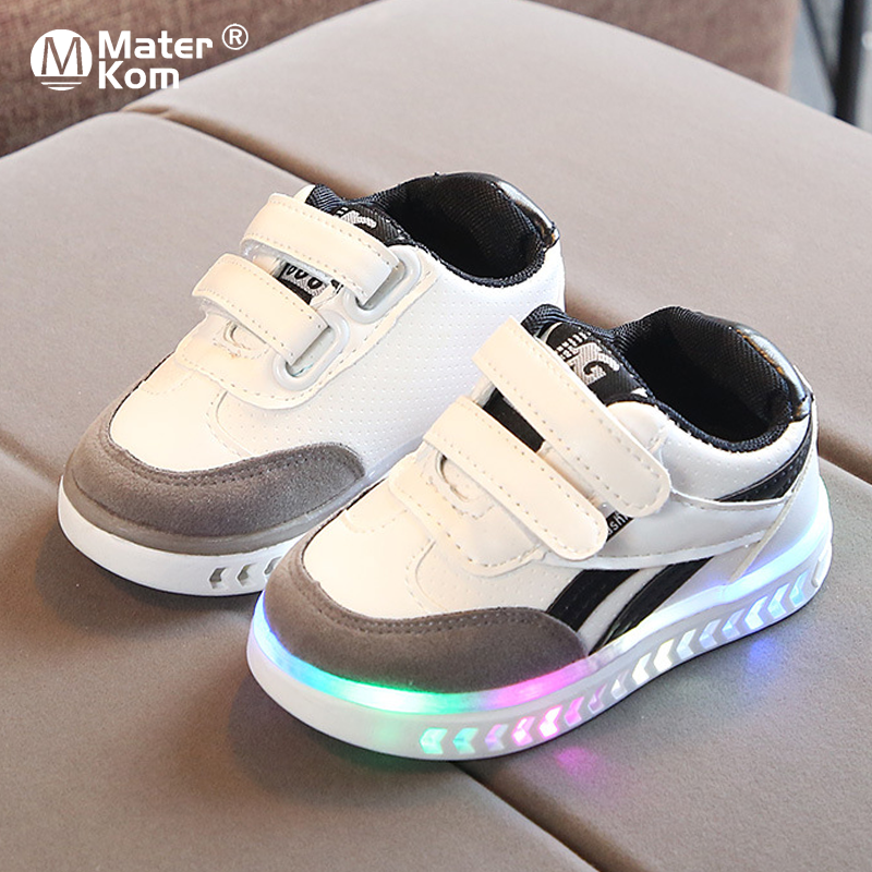 Size 21-30 Kids Shoes Luminous Sneakers For Kids Toddler Girls Shoes Led Sneakers For Boys Girls Kids Shoes Sneakers With Light