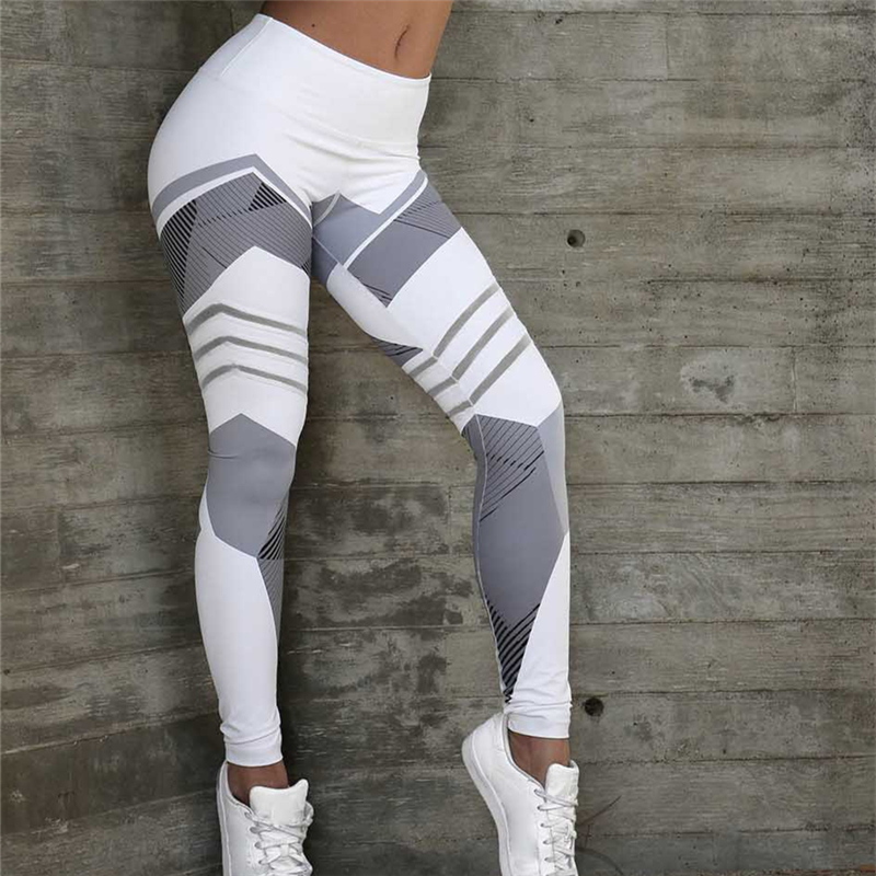 Leggings Women Gym Pants Sports Tights Striped Running Wear Female Yoga Leggings Seamless Pants For Fitness Workout Pants