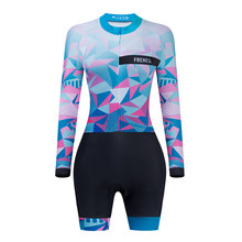 2021 Frenesi Women Professional Triathlon Cycling Bodysuit Roupa De Ciclismo Feminino One Piece Riding Sport Jumpsuit Sweatshirt