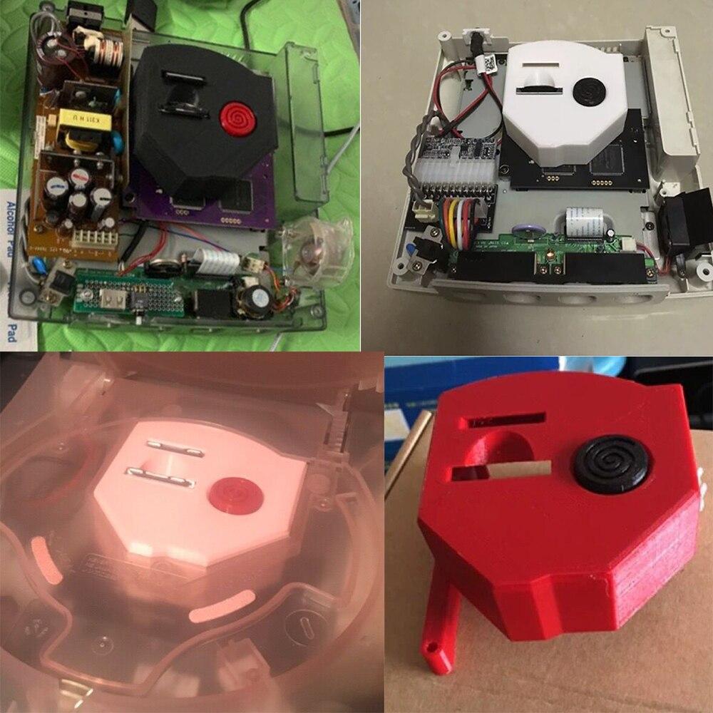 Personalize dc console fã sudário capa doca CD-ROM caso simulado para sega dreamcast host gdemu sd cartão estender bandeja retro jogo