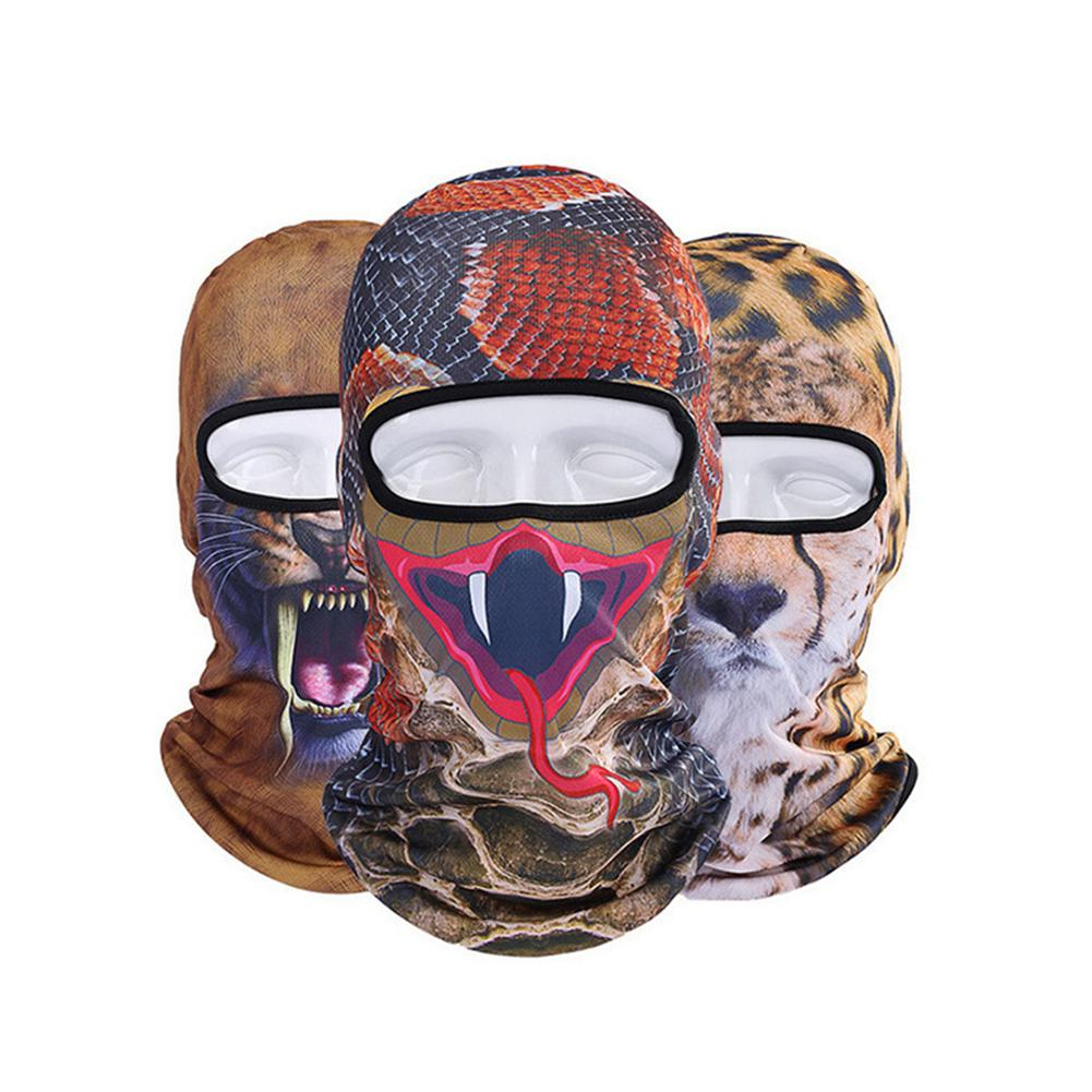 3D Animal Print Balaclava Breathable Dust Proof Cycling Riding Hiking Face Cover Respirator For Summer Stop The Flying Spit
