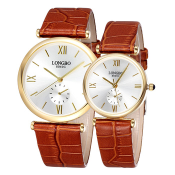 2020 New Fashionable Luxury Men's and Women Fashionable Waterproof Quartz Couple Watch Leather Strap Watch Multifunctional Watch new and innovative blue gold magnetic metal parallel time and space watch men s fashionable quartz watch simple men s watch