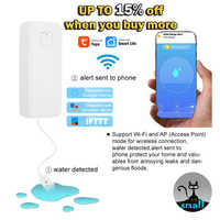 Water leakage sensor WIFI leak level Alarm tank detector security Overflow protection Tuya Smart Life App home Remote control