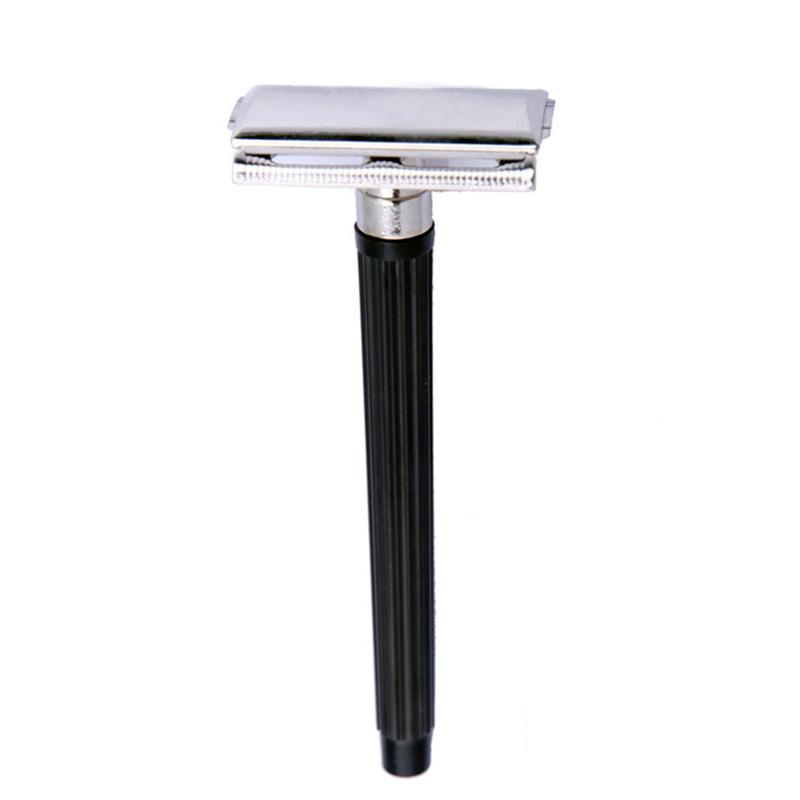 Traditional Safety Stainless Steel Manual Shaver For Men Double Trimmer Hair Shaving Classic Beard Manual Shaver Blade Edge E8B8