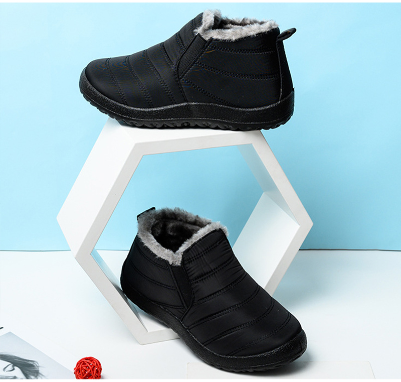Snow Boots Women Shoes Warm Plush Fur Ankle Boots Winter Female Slip On Flat Casual Shoes Waterproof Ultralight Footwear 27