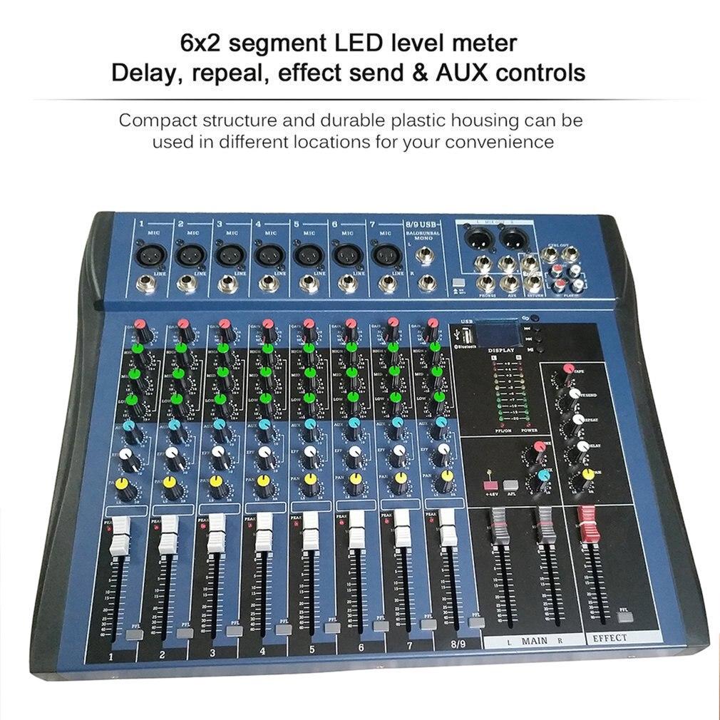 CT8 8 Kanaals Professionele Stereo Mixer Live Usb Studio Audio Geluid Console Netwerk Anker Apparaat Vocale Effect Processor - 2