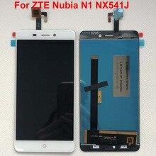 AAA 100% oryginalny biały dla ZTE Nubia N1 wyświetlacz LCD + montaż digitizera ekranu dotykowego naprawa części dla ZTE Nubia N1 NX541J