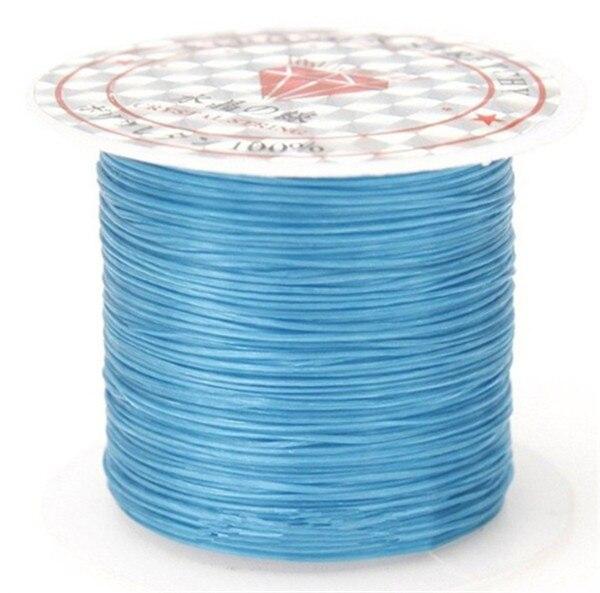 393 дюйма/рулон, крепкий эластичный шнур для бисероплетения с кристаллами, 1 мм, для браслетов, стрейчевая нить, ожерелье, сделай сам, для изготовления ювелирных изделий, шнуры, линия - Цвет: Color 3