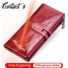 Marque concepteur femmes pochette 2020 mode portefeuilles en cuir de vachette femme Long portefeuille femmes fermeture éclair sac à main porte monnaie pour iPhone X