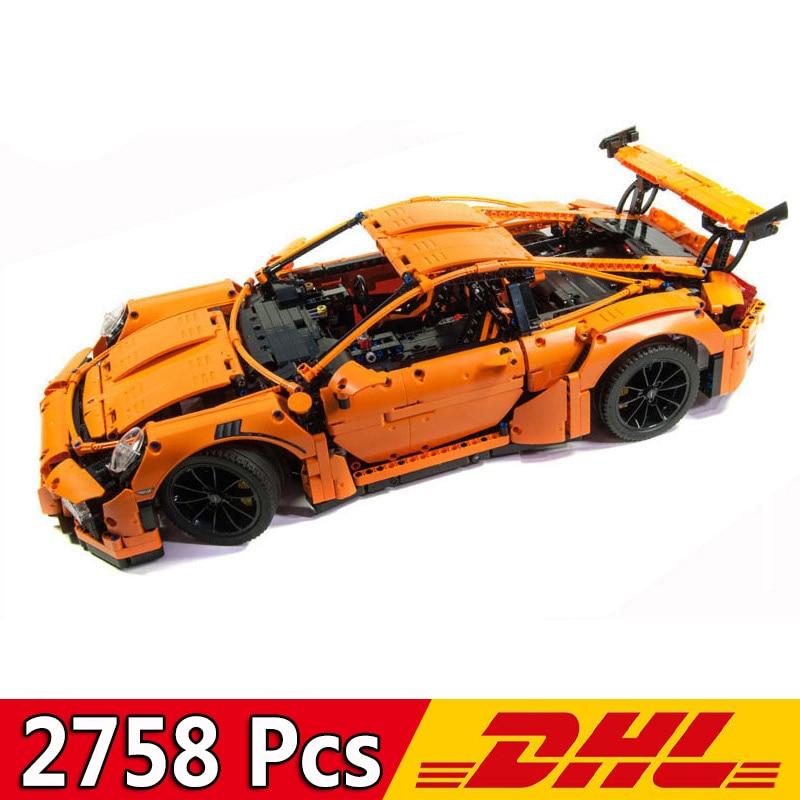 Building Blocks 20001 2758Pcs Technic Sports Car Race Car 911 GT3RS F1 Formula Model Toy Bricks Compatible Legoings 42056