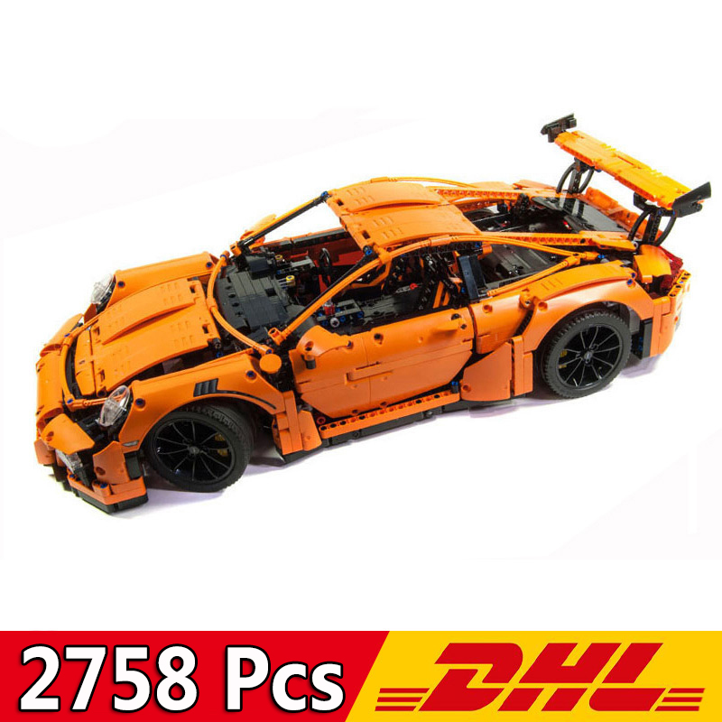 Building <font><b>Blocks</b></font> <font><b>20001</b></font> 2758Pcs Technic Sports Car Race Car 911 GT3RS F1 Formula Model Toy Bricks Compatible Legoings 42056 image