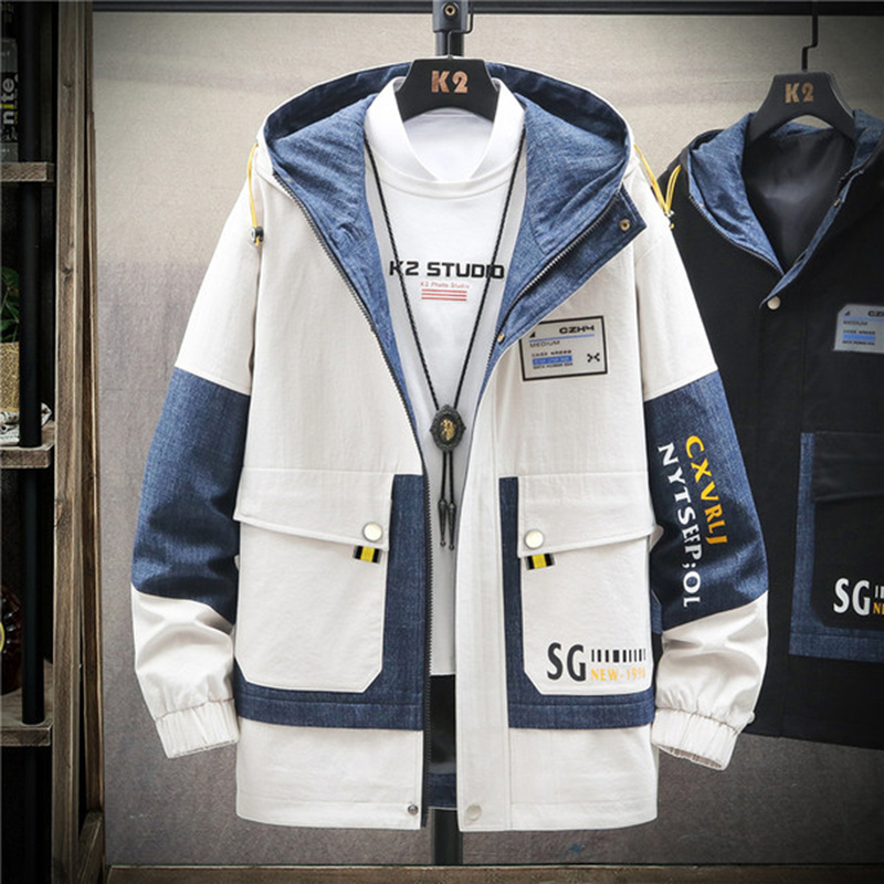2020 spring autumn new jacket men's jacket Korean trend ins handsome wild jacket tide brand men's parka DS001