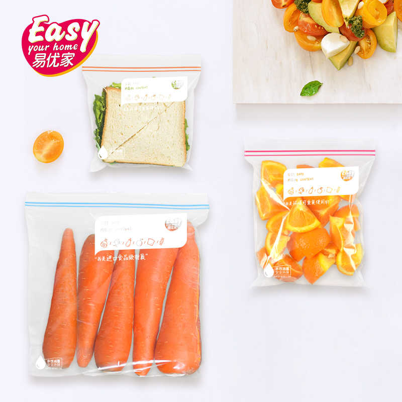 Reusable Thicken Clear Fresh Ziplock Zip Zipped Lock Bag Plastic Reclosable Poly Zip Food Storage Package Packing Bags