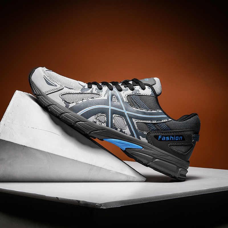 Gorąca sprzedaż 2019 męskie trampki trening na świeżym powietrzu wygodne oddychające sportowe buty antypoślizgowe amortyzujące buty do biegania