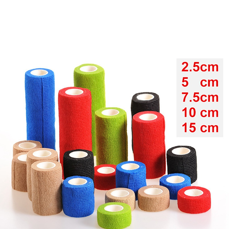 Colorful Sport Self Adhesive Elastic Bandage Wrap Tape Elastoplast For Knee Support Pads Finger Ankle Palm Shoulder*