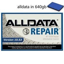 2021 Alldata oto tamir yazılımı 10.53v tüm veri yazılımı teknik destek ile otomotiv otomobil ve kamyon 640gb Hdd