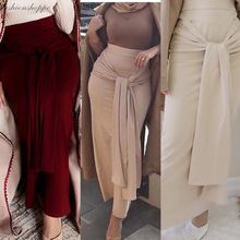 Skirts Islamic-Clothing Modest Muslim Fashion Longer Bottoms Party Bodycon Elegant Princess