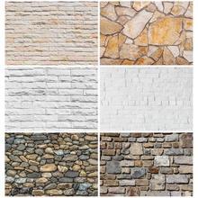 White Brick Wall Photography Backdrops Photo Background Vinyl Cloth 3D Customize for Baby Children Photo Studio Photoshoot