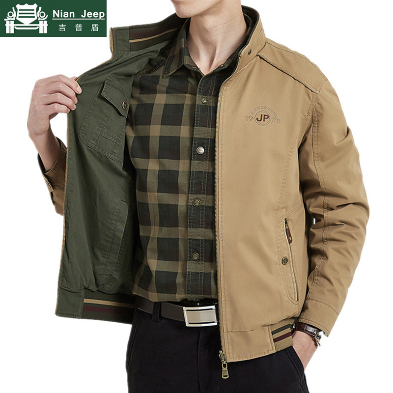 Brand Double-sided Military Jacket Men 7XL 8XL Spring Autumn Cotton Business Casual Multi-pocket Men's Jackets chaquetas hombre