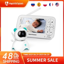 HeimVision HMA36MQ Видеоняни и радионяни с Камера Беспроводной видео няня 720P HD камеры безопасности Ночное видение Температура сна Камера 5,0 дюймов