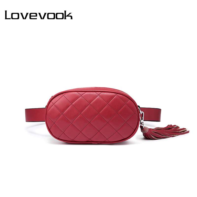 LOVEVOOK Waist Packs For Women Belt Bag Female Shoulder Crossbody Bag Ladies Messengers Bags Ladies Fanny Pack Small Purses 2019