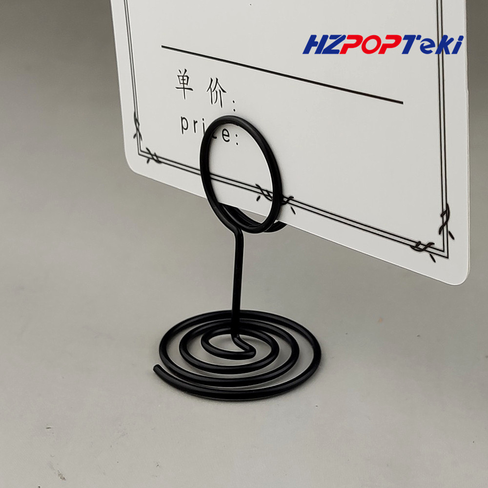 Mini Metal POP Sign Signage Price Paper Card Promotion Display Label Small Memo Clips Holders Wire Winding Type  In Shop 4000pcs