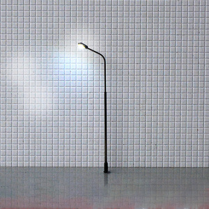 Image 2 - 1000 pcs 1/75 스케일 모래 테이블 가로등 모델 led 가로등 장식 3 v 단일 헤드 가로등 기둥 실버