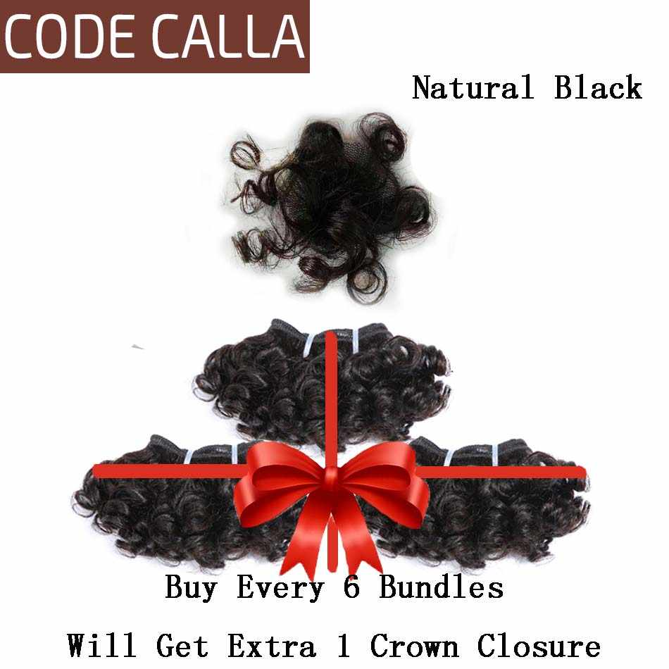Code calla inflable rizado mechones Remy malayo Remy mechones de cabello humano postizo extensiones de doble dibujado Natural de la trama de Color marrón oscuro