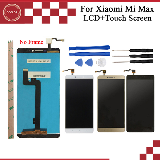 Ocolor XiaoMi MI MAX LCD 디스플레이 및 터치 스크린 어셈블리 교체 6.4 xiaomi MAX Phone For Tools And Adhesive