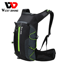 WEST BIKING Bike Bag Sports Backpack Portable Folding Hiking Bicycle Water Bags Ultralight Waterproof 10L Men's Cycling Backpack