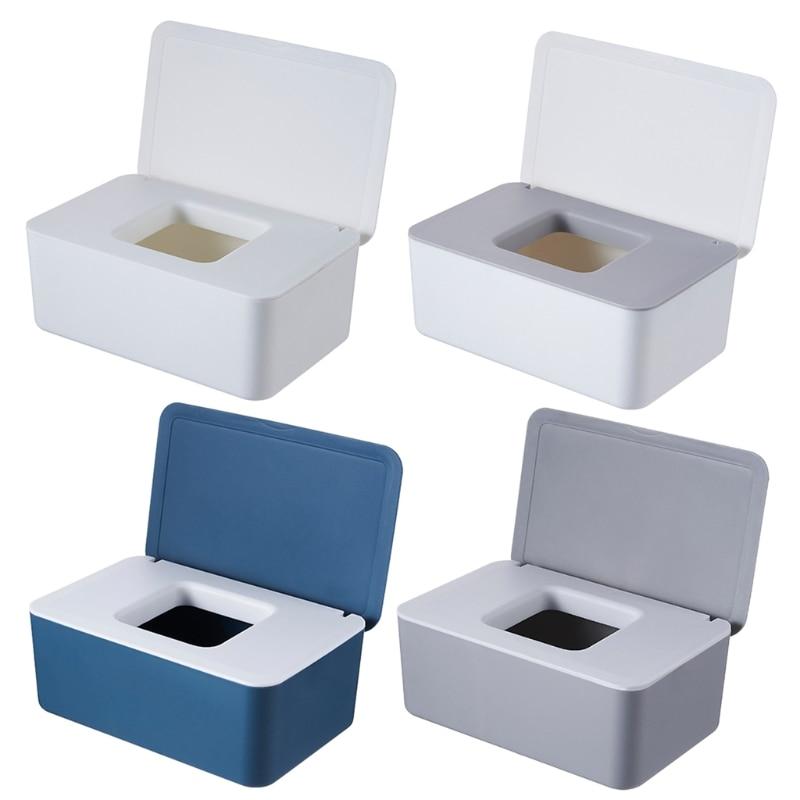 Wet Tissue Box Desktop Seal Baby Wipes Paper Storage Box Dispenser Holder Lid M68E