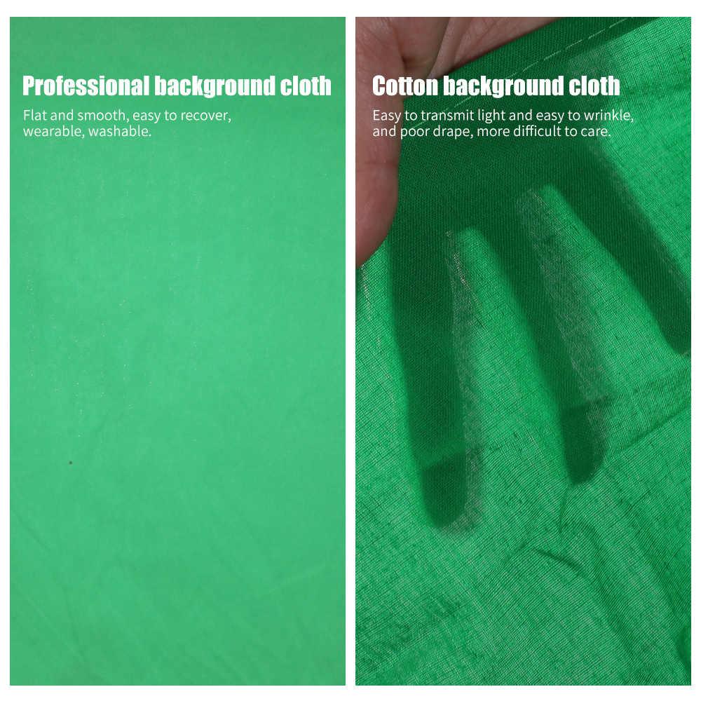 Fondo de Fotografía Blanco verde pantalla Chroma Key fondo de muselina para estudio fotográfico fondo profesional de poliéster-Algodón