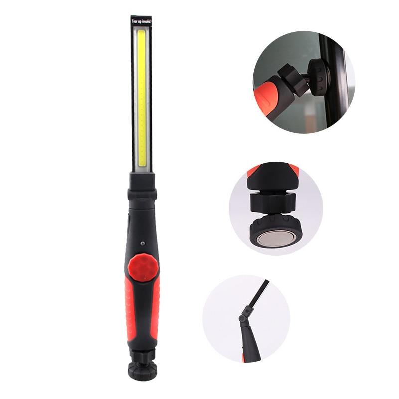 Protable מוסך עבודה אור משולב נטענת COB LED Slim עבודת אור מנורת פנס Worklight חיצוני