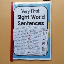 Brinquedos educativos crianças aprender inglês lição de casa muito primeira vista palavra frase interativo phonics colorir prática workbook