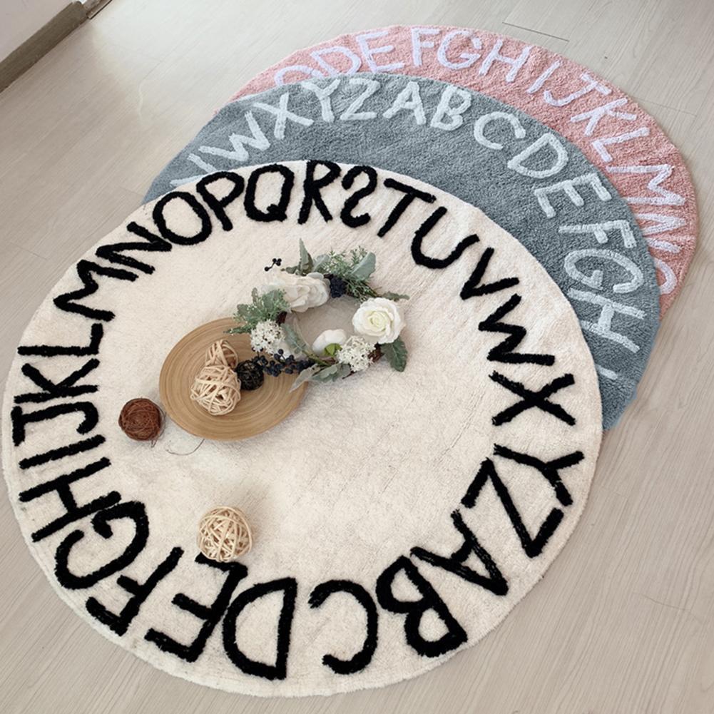 Lettre Alphabet bébé jouer tapis tapis enfant en bas âge enfants ramper couverture ronde tapis tapis jouets tapis pour enfants chambre décor Photo accessoires