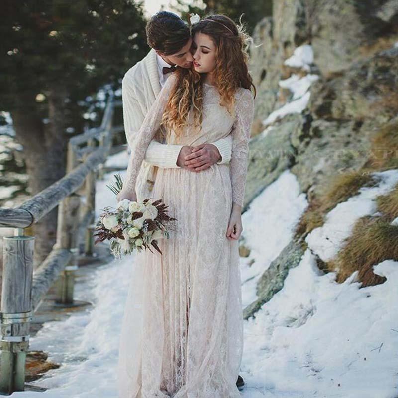 Eightree Vintage Lace Boho Wedding Dresses Long Sleeves Backless Plus Size Hippie Bohemian Wedding Dress Cheap Vestido De Noiva Wedding Dresses Aliexpress