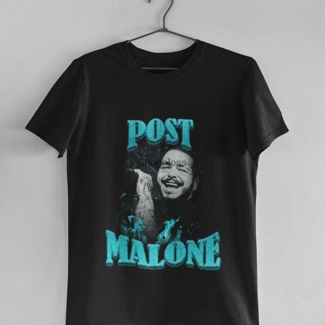 Post Malone Light Blue Vintage 90s T Shirt  1