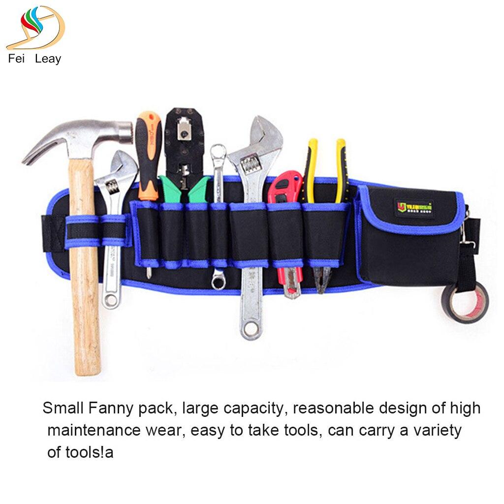 Multi-Pockets Tool Storage Bag Waist Pockets Electrician Tool Bag Oganizer Carrying Pouch Tools Bag Belt Waist Pocket Case