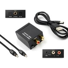 Coaxial Fiber Decoder Toslink Digital to Analog L/R RCA Jack Audio Converter 3.5mm Jack Optical  Channel Spdif Stereo For HDTV