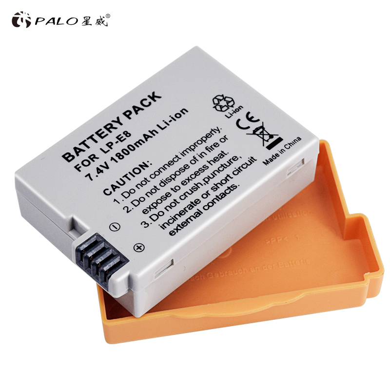 PALO LP-E8 bateria LP-E8 lp e8 Battery pack For Canon 550D 600D 650D 700D X4 X5 X6i X7i T2i T3i T4i T5i DSLR Camera