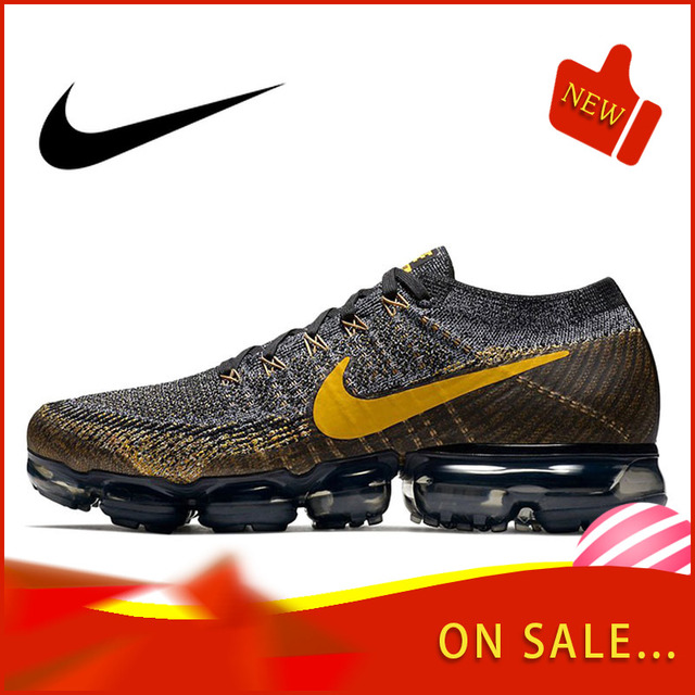 Authentic Original Nike Air VaporMax Flyknit Men's Running Shoes Fashion Outdoor Sports Trend 2019 New Breathable 849558-009